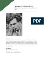 Poemas de Aldous Huxley