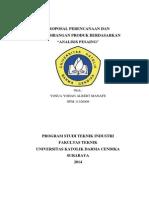 Cover Proposal Analisis Pesaing Dan Bahan Baku