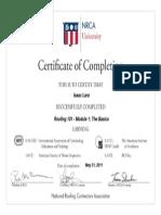 certificado NRCA