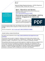 jones morgan and harris  2012 developing coaching pedagogy - seeking a better integration of theory adn practice