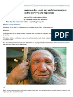 Dailymail.co.Uk-Scientists Slam the Caveman Diet and Say Early Humans Just Ate Whatever They Could to Survive and Re