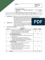 Mechatronics syllabus of SBMP