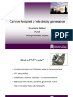 Carbon Footprint of Electricity Generation