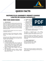 ADEADV1016 - Quick Facts & T&C - Motorcycle Learner%27s Permit NO[1]