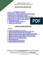 Hojas Tecnicas de Honduras Quimica 2013