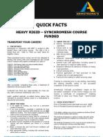 ADEADV1033 - Quick Facts & T&C - Heavy Rigid Synchromesh[1]