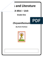 math and literature - chrysanthemum grade 1