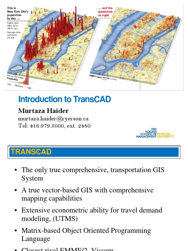 Intro TransCAD | Dialog Box | Map