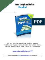 eBook Panduan Daftar Paypal