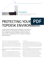 Protecting your TOPdesk environment