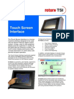 S115e Touch Screen Interface