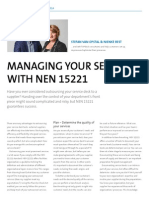 Managing your services with NEN 15221
