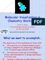 Molecular Visualization in Chemistry Workshop