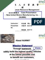 NUMMI Shrm102205-Student Presentation