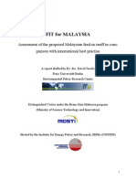 Assessment of the Proposed Malaysian Feed-In Tariff in Comparison