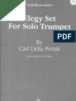 Sem Acompanhamento Peruti, Carl Della Elegy Set for Solo Trumpet