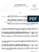 Jäger, Karl-Heinz Concertino for Trumpet and Piano (Piano)