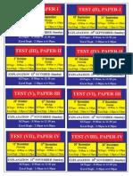 Test Plan Schedule