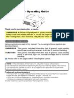 Projector Manual 3254