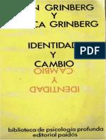 Ginberg, León y Grinberg, Rebeca - Identidad y Cambio