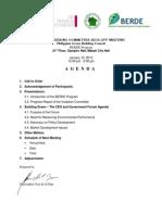 Berde Steering Committee Kick-Off Meeting-Agenda and Participants List - Philgbc - 2010
