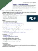 TNPSC Exam Important Book List by Www Tnpscportal In