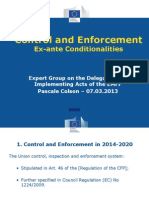 04.3 Control and Enforcement Ex-Ante Conditionalities