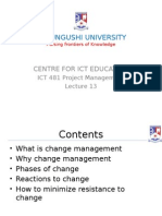 Ict481 15 Change Management