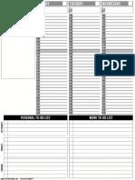 Passion Planner Blank Left PDF