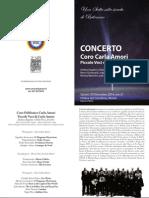 Coro Carla Amori Concerto Natale 2014 - Programma di sala