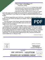 Jodo Mission Bulletin - January 2015