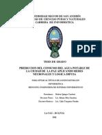 Prediccion de Agua Potable La Paz