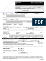Personal Account Application Form
