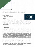 131342061 a Process Model of Public Police Violence