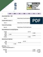 2015 Spring Schedule Cresskill