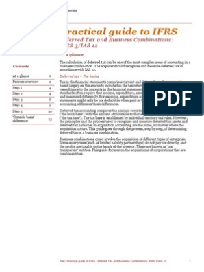 Deferred Tax and Business Combinations: IFRS 3/IAS 12