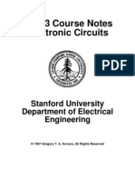 EE113 Course Notes Electronic Circuits