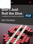 Dont Just Roll the Dice - Pricing Techniques