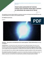 Atlantico.fr-rayons Gammanbsp La Chose La Plus Puissante de Lunivers Pourrait Expliquer Pourquoi Nous Sommes Seuls