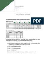 Lista de Exercícios MM_IIUnidade
