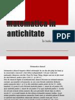 Matematica În Antichitate