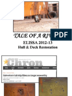 Tale of a Rivet - ELISSA hull and deck restoration 2012-13