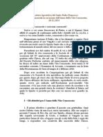 Lettera Apostolica Del Santo Padre Francesco Vita Consacrata