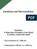 Macro and Micro Emulsion