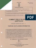 Combat Field Telephone UK/PTC/414 (1994)