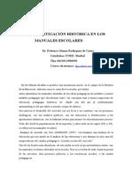 LA INVESTIGACIÓN HISTÓRICA en LOS Manuales Escolares Gomez_rodriguezdecastro