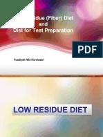 Kuliah Diet Rendah Sisa