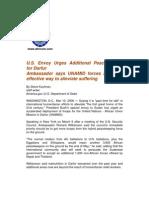U.S. Envoy Urges Additional Peacekeepers for Darfur