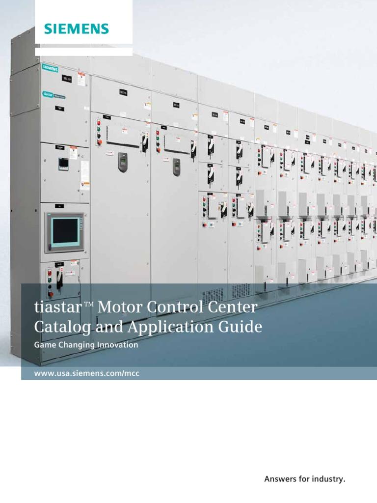MCC Siemens Application Guide | Fuse (Electrical) | Sheet Metal