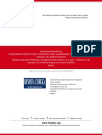 Acevedo Díaz (2009) El Conocimiento Didáctico del Contenido para la enseñanza de la Naturaleza de la Ciencia